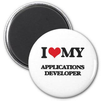 I love my Applications Developer Refrigerator Magnets