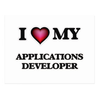 I love my Applications Developer Postcard