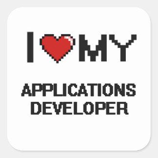 I love my Applications Developer Square Sticker