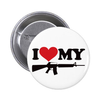 I Love My AR15 Pinback Button