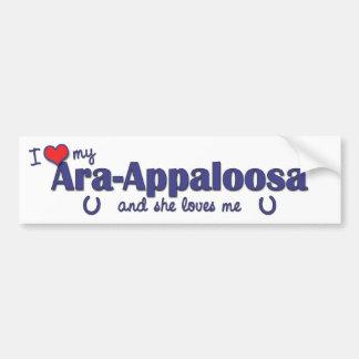 I Love My Ara-Appaloosa (Female Horse) Bumper Sticker