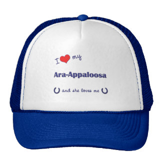 I Love My Ara-Appaloosa (Female Horse) Mesh Hats