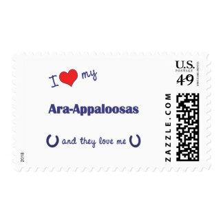 I Love My Ara-Appaloosas (Multiple Horses) Postage Stamps