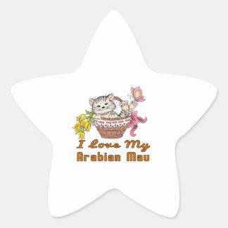 I Love My Arabian Mau Star Sticker