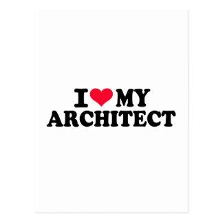 I love my Architect Postcard