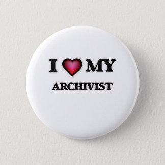 I love my Archivist Pinback Button