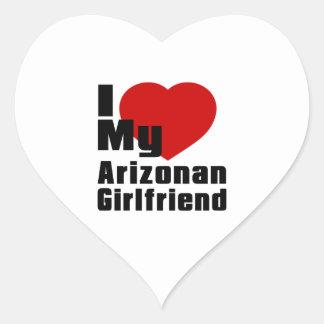 I Love My Arizonan Girlfriend Heart Sticker