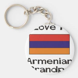 I Love My Armenian Grandpa Basic Round Button Keychain