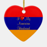 I Love My Armenian Husband Christmas Tree Ornament