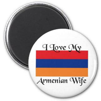 I love My Armenian wife 2 Inch Round Magnet