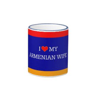 I Love My Armenian Wife, Armenian Flag Ringer Mug