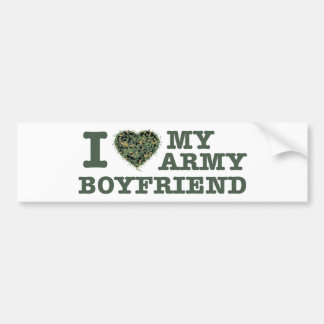 I love my army boyfriend bumper sticker
