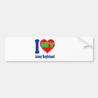 I love my Army Boyfriend Car Bumper Sticker