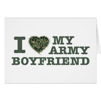 I love my army boyfriend card