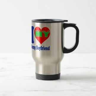 I love my Army Boyfriend 15 Oz Stainless Steel Travel Mug