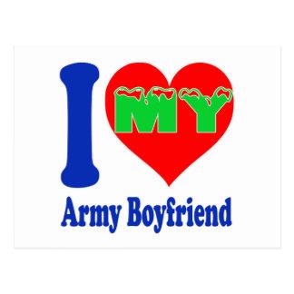 I love my Army Boyfriend Postcard