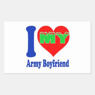 I love my Army Boyfriend Rectangular Sticker