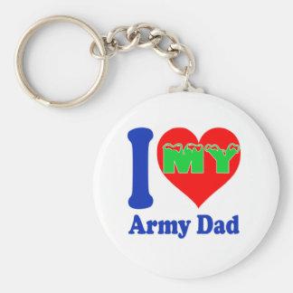 I love my Army Dad. Key Chains