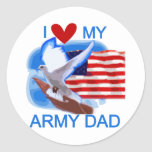 I Love My Army Dad Tshirts and Gifts Classic Round Sticker
