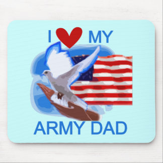 I Love My Army Dad Tshirts and Gifts Mouse Pad