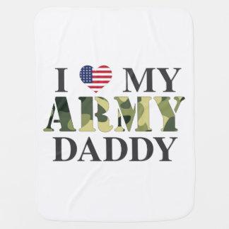 I Love My Army Daddy Baby Blanket