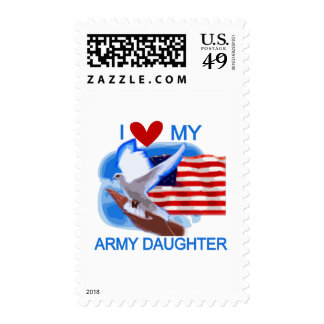 I Love My Army Daughter Tshirts and Gifts Stamps