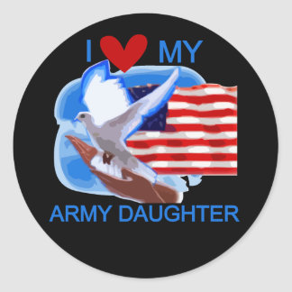 I Love My Army Daughter Tshirts and Gifts Stickers