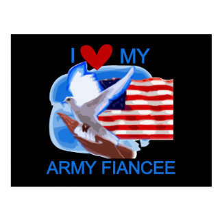I Love My Army Fiancee Tshirts and Gifts Postcard