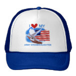 I Love My Army Granddaughter Tshirts and Gifts Mesh Hat