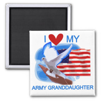 I Love My Army Granddaughter Tshirts and Gifts Fridge Magnets