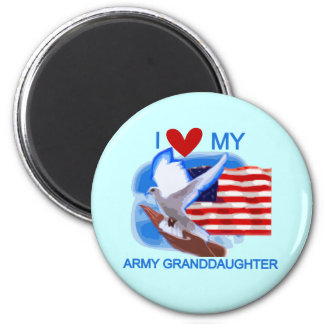 I Love My Army Granddaughter Tshirts and Gifts Refrigerator Magnet