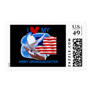 I Love My Army Granddaughter Tshirts and Gifts Stamp