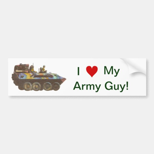 I love my Army Guy Gal Bumper Sticker