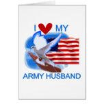 I Love My Army Husband tshirts and Gifts Card