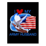 I Love My Army Husband tshirts and Gifts Postcard