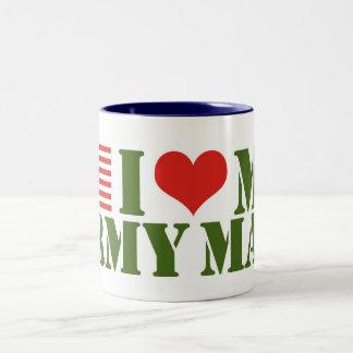 I LOVE MY ARMY MAN Two-Tone COFFEE MUG