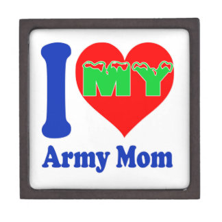 I love my Army Mom. Premium Jewelry Boxes