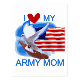 I Love My Army Mom Tshirts and Gifts Postcard