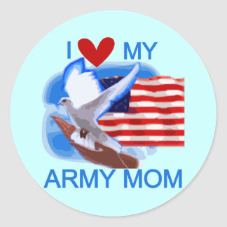 I Love My Army Mom Tshirts and Gifts Stickers