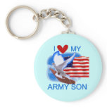 I Love My Army Son Tshirts and Gifts Keychain