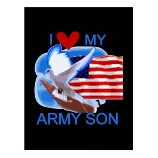 I Love My Army Son Tshirts and Gifts Postcard