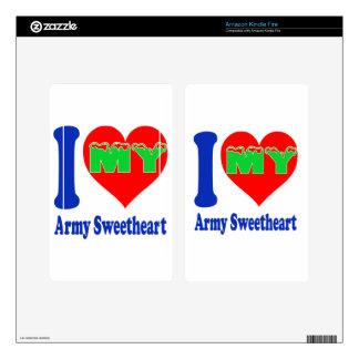 I love my Army Sweetheart. Kindle Fire Skins