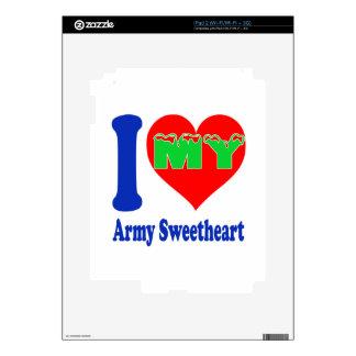 I love my Army Sweetheart. iPad 2 Skin