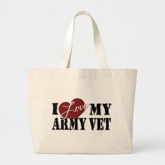 I love My Army Vet Large Tote Bag