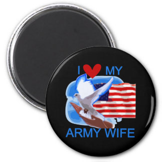 I Love My Army Wife Tshirts and Gifts Magnets
