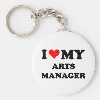 I Love My Arts Manager Keychain