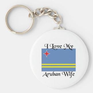 I love my Aruban Wife Keychain