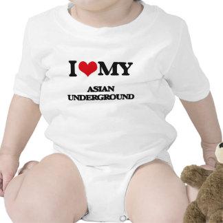 I Love My ASIAN UNDERGROUND Baby Bodysuit
