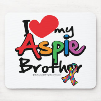 I Love My Aspie Brother Mouse Pad