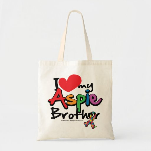 I Love My Aspie Brother Tote Bag
